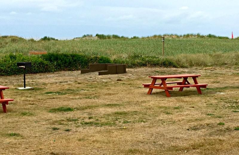Picnic area at Hi-Tide Ocean Beach Resort.