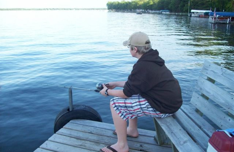 Fishing at Lykins Pinehurst Resort.
