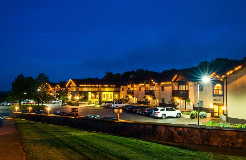 Exterior view of Treetops Resort.