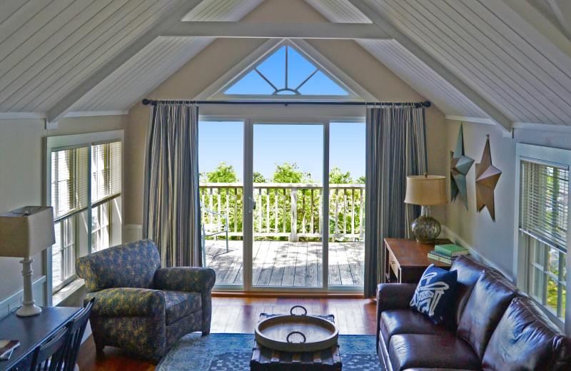 Cottage living space at Basin Harbor.