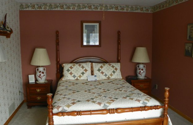 Guest room at Pleasant Lake Bed & Breakfast.