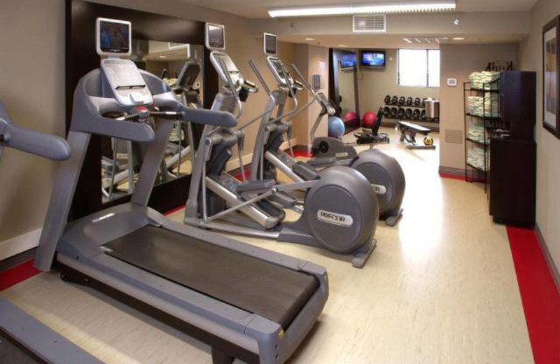 Fitness center at Embassy Suites Bloomington.
