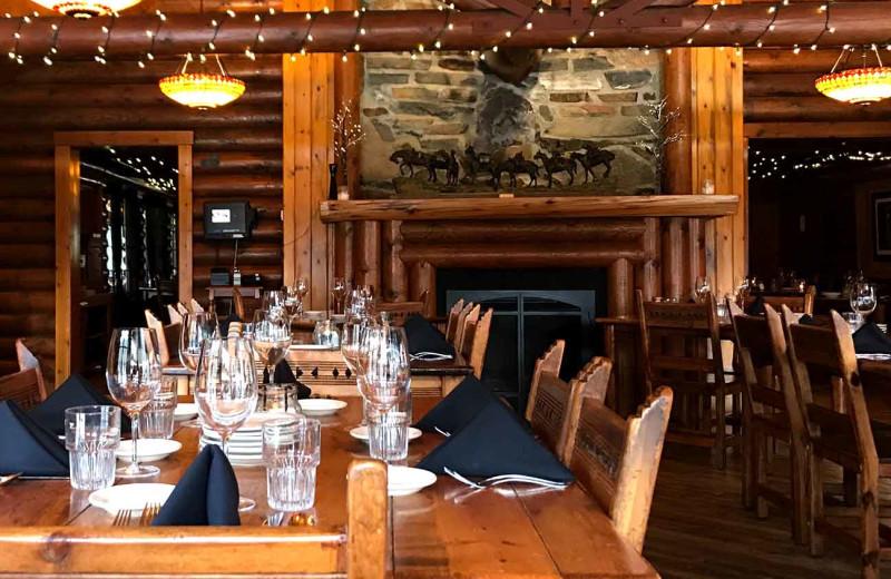 Dining at Quinn's Hot Springs Resort