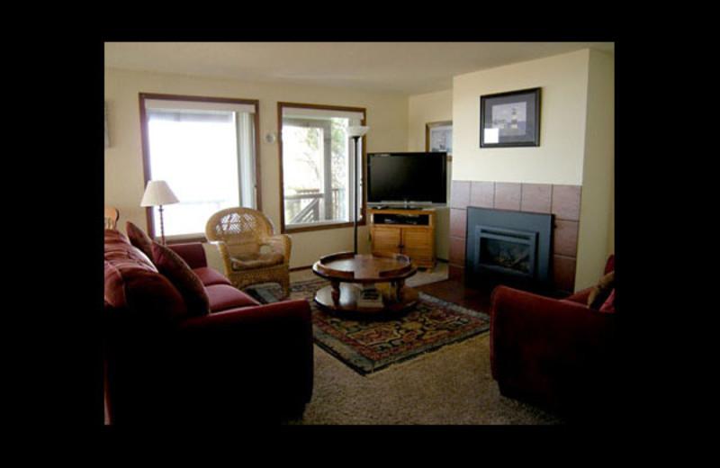 Rental living room at Manzanita Rental Company.