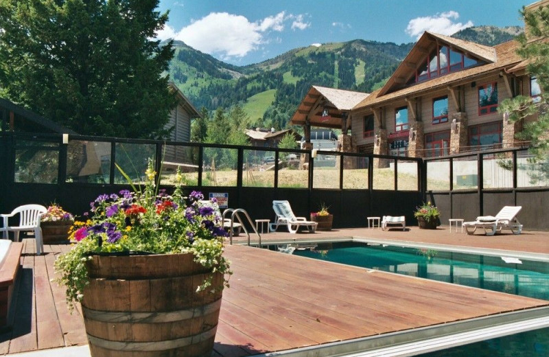 Outdoor pool at Alpenhof Lodge.
