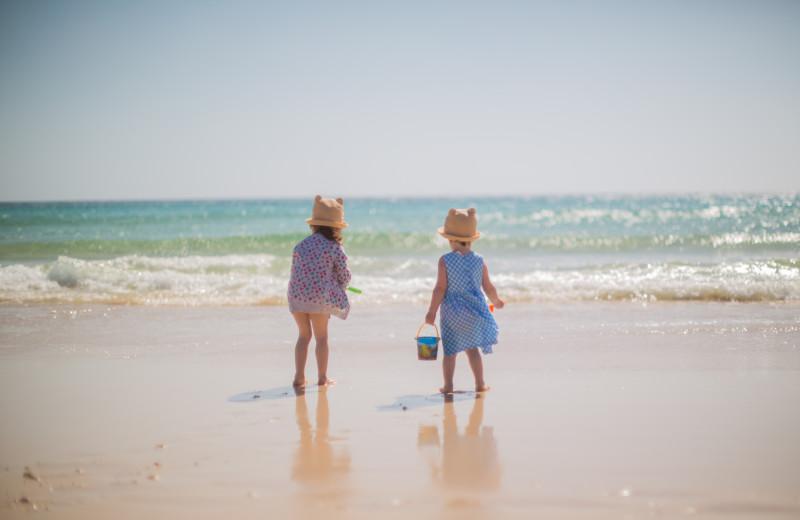 Kids on beach at The Inn at Bald Head Island.