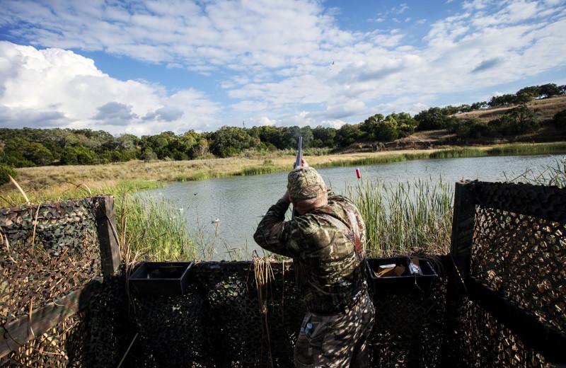 Duck hunting at Joshua Creek Ranch.