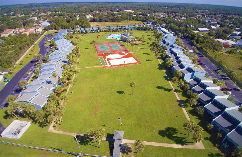 Aerial view of Sunnyside Resort Rental Company.