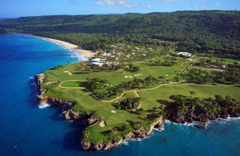 Aerial view of Caribbean Village Playa Grande.