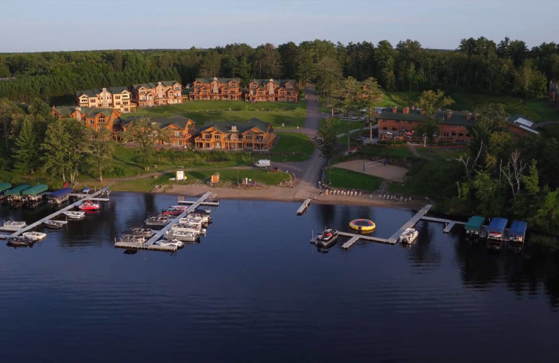 Aerial view of Big Sandy Lodge & Resort.