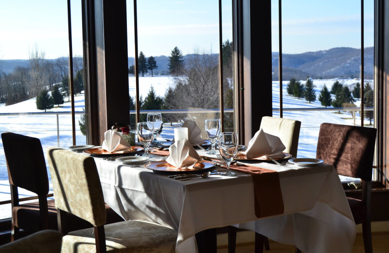 Dining room at Lenape Heights Golf Resort.