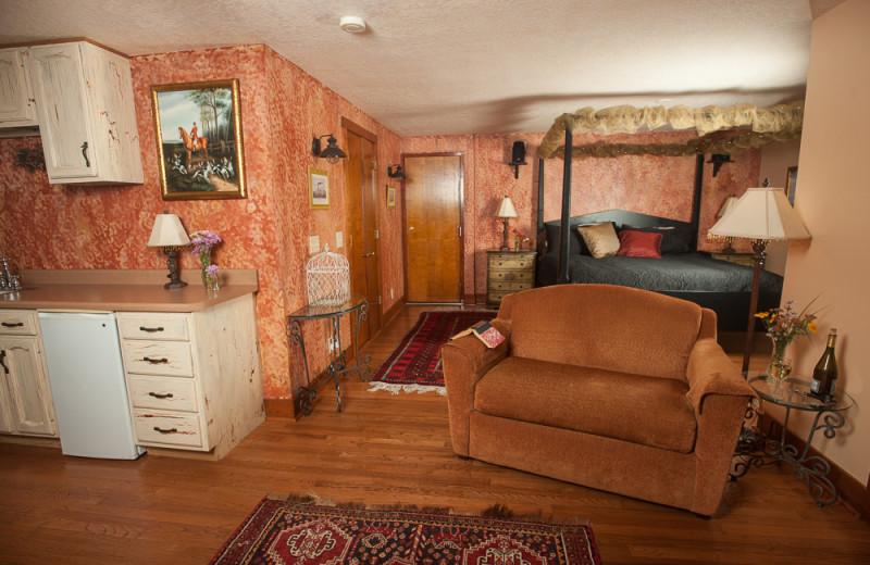 Guest bedroom at Market Street Inn.
