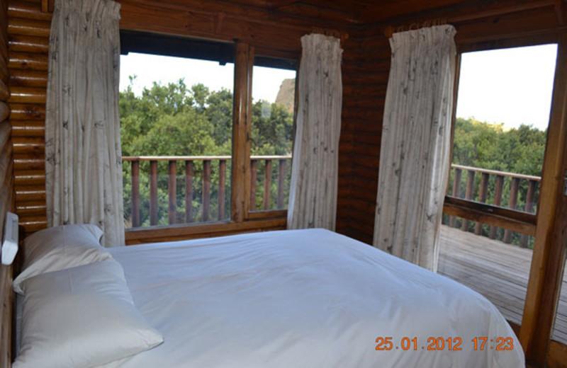 Cabin bedroom at Mount Everest Guest Farm.