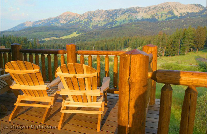 Balcony view at Bridger Vista Lodge.