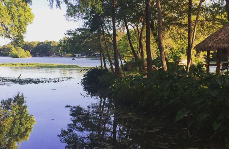 Lake view at Sons Island at Lake Placid.