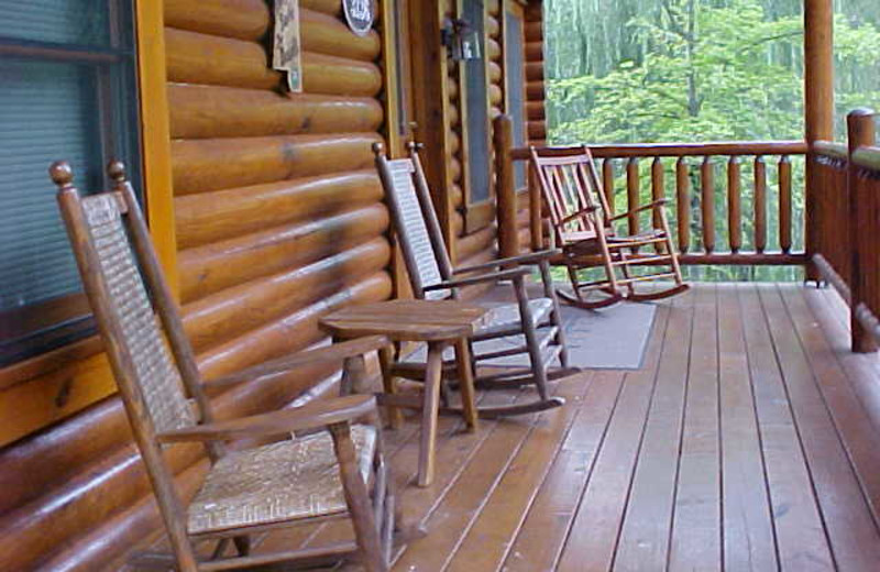 Front Porch of Cabin at A Smoky Getaways