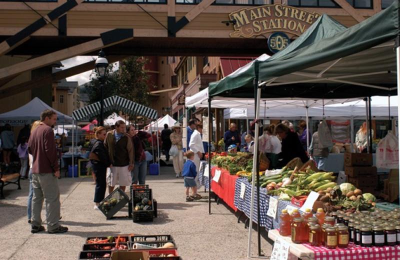 Farmer's market at Grand Lodge on Peak 7.