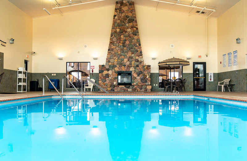 Indoor pool at Sevenwinds Casino, Lodge & Convention Center.