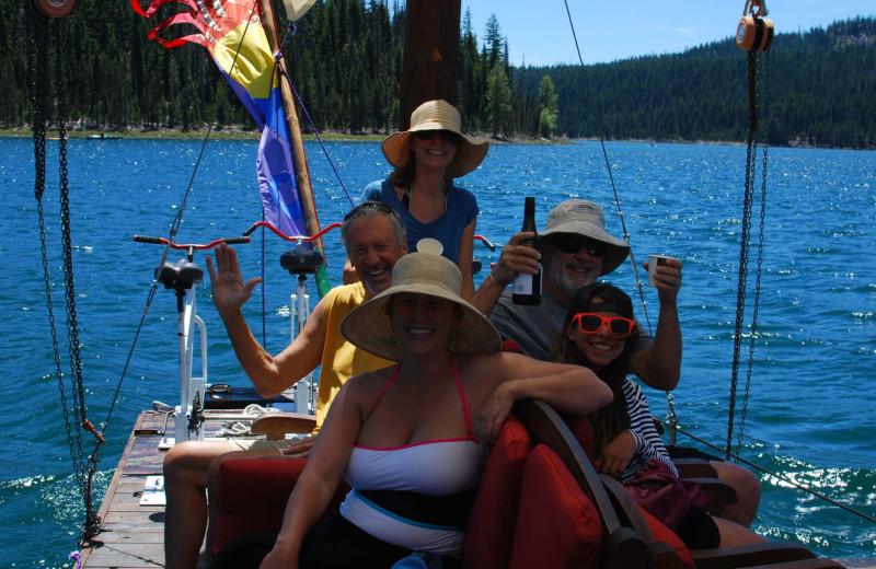 Floating dock at Elk Lake Resort.