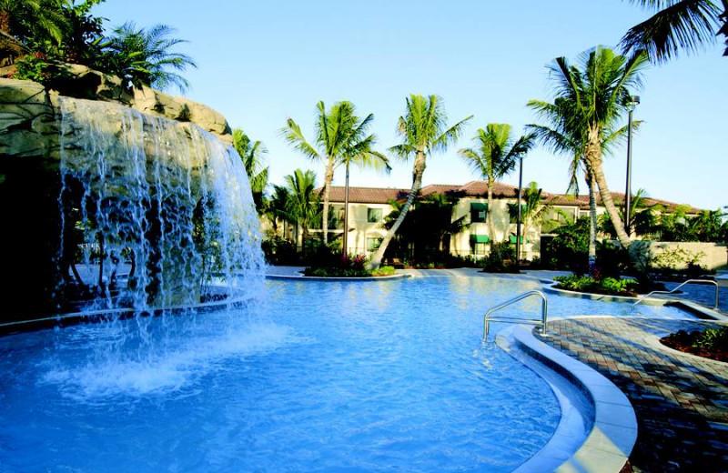Outdoor pool at Naples Bay Resort.