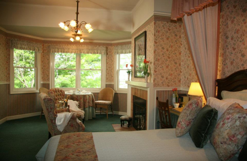 Guest room at Foxes Bed and Breakfast.