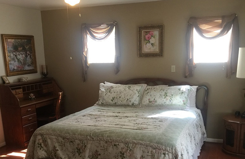Guest bedroom at Rio Vista Resort.