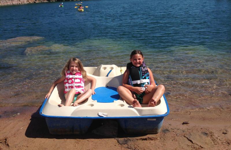 Paddle boat Granite Springs Lodge.