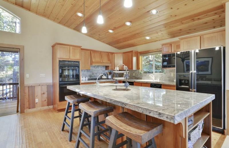 Rental kitchen at Stay in Lake Tahoe.