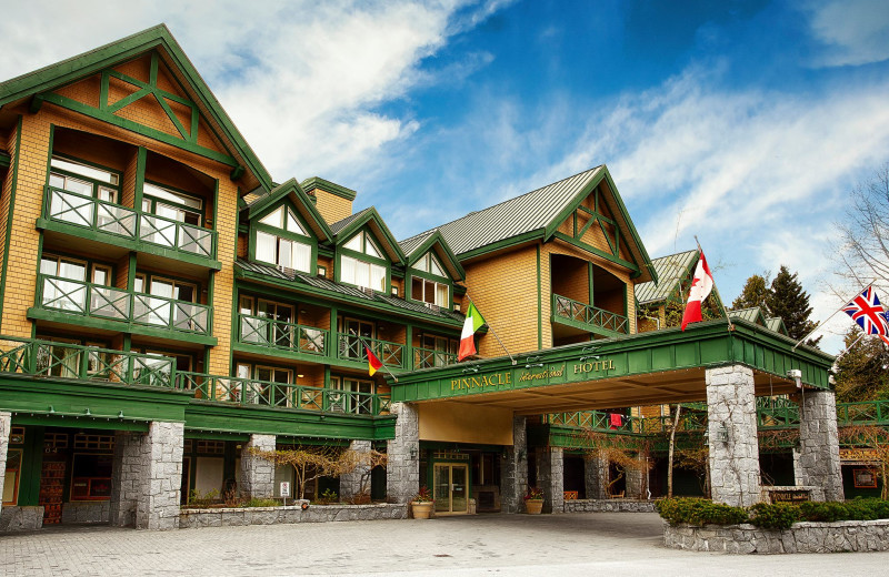 Exterior view of Pinnacle International Hotel Whistler.