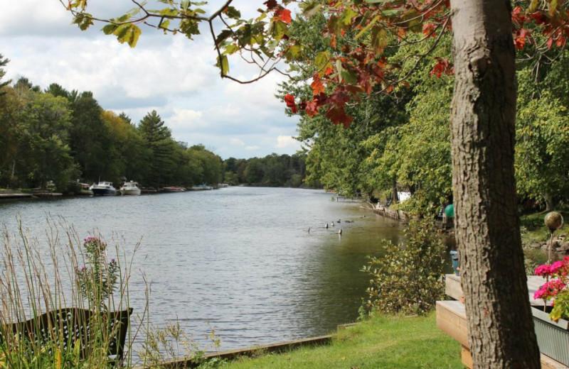 Lake view at Shamrock Bay Resort.