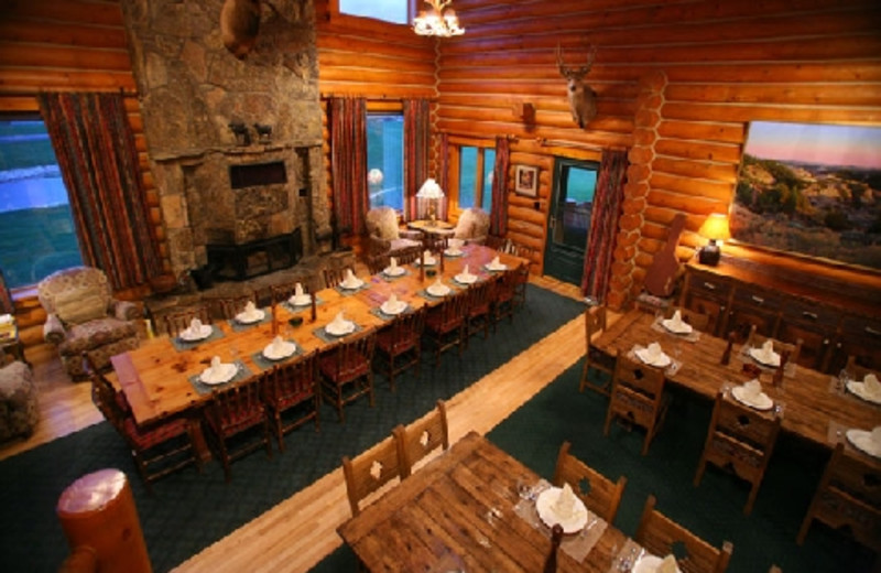 Dining area at The Hideout Lodge & Guest Ranch.
