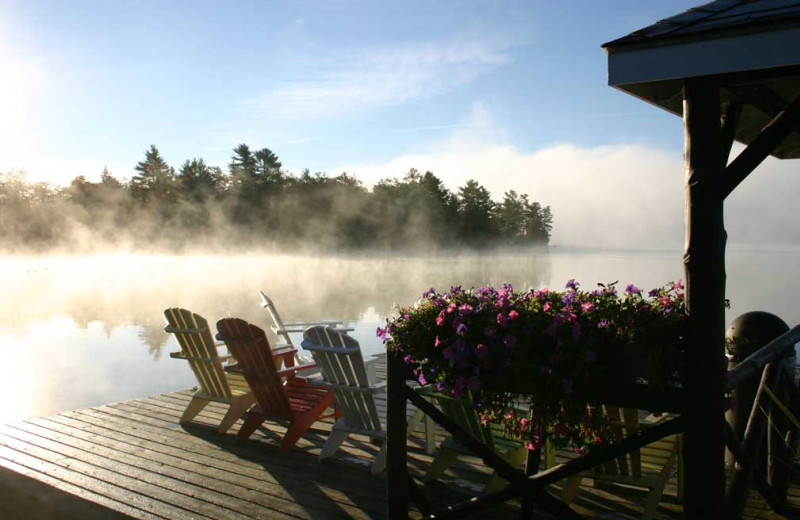 Lake mist at Severn Lodge.