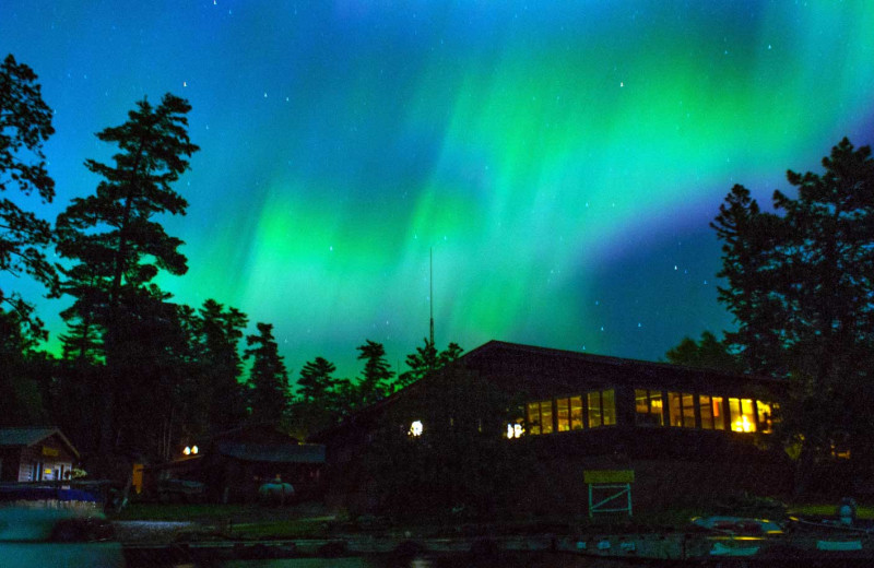 Northern lights at Zup's Fishing Resort and Canoe Outfitters.