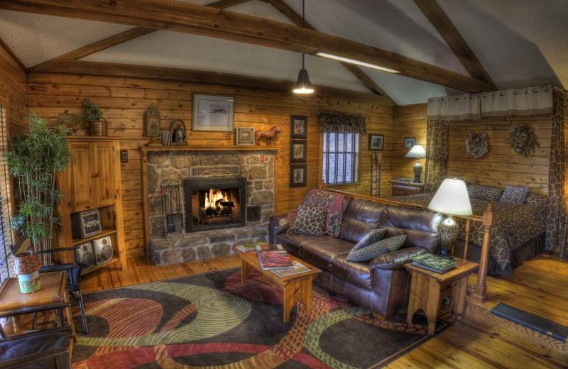Cabin interior at The Retreat at Sky Ridge.