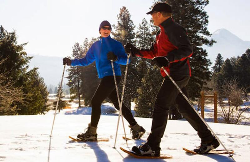 Skiing at near Obertal Inn.