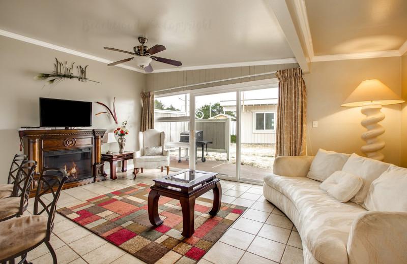 Guest living room at Beachwood Resort Condos.
