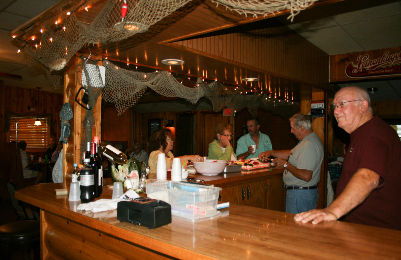 Dining at Ten Mile Lake Resort.