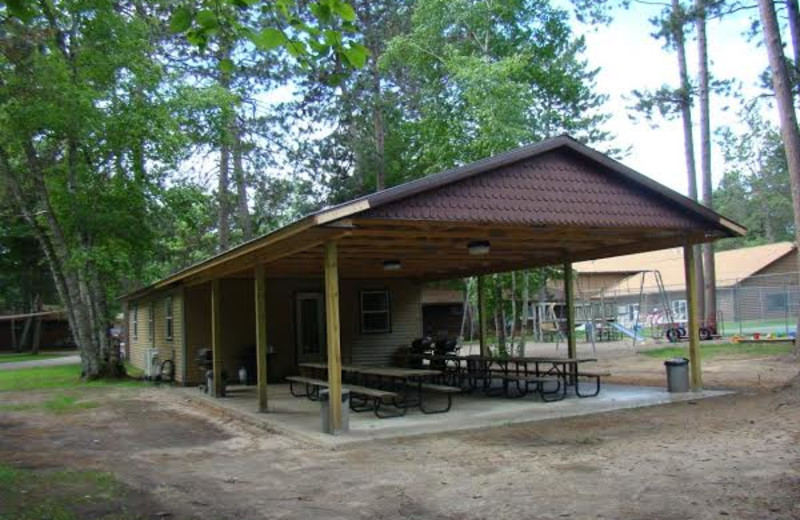 Picnic pavilion at Gull Four Seasons Resort.