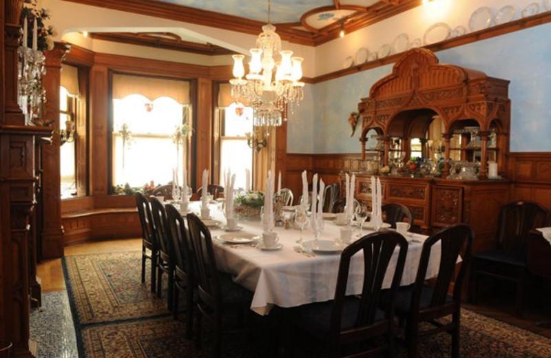 Dining room at Shearer Elegance.
