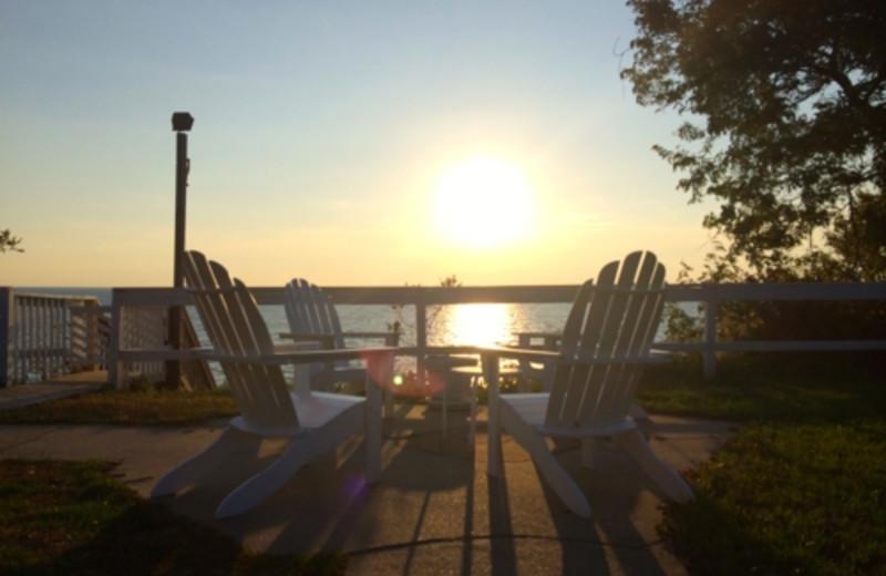 Sunset at Michillinda Beach Lodge.