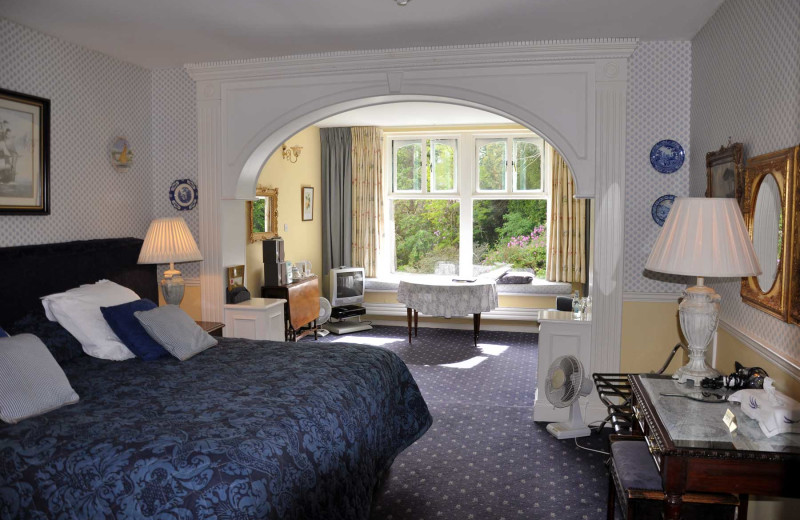 Guest room at Cashel House Hotel.