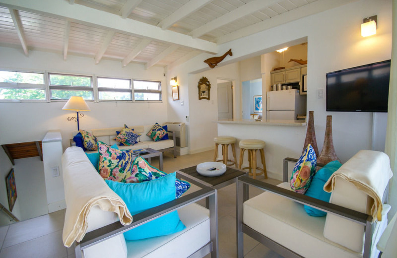 Guest room at Antigua Village Beach Resort.