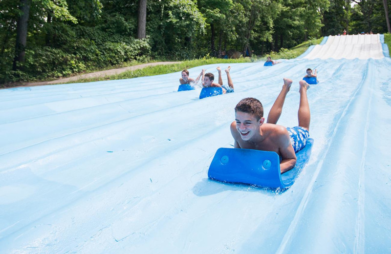 Water slide at Mountain Creek Resort.