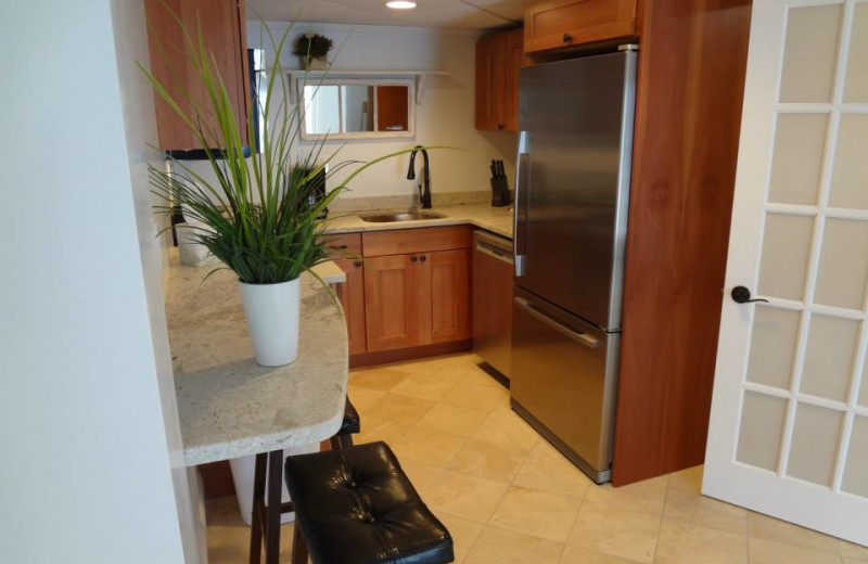 Guest kitchen at Sea Rose Suites.