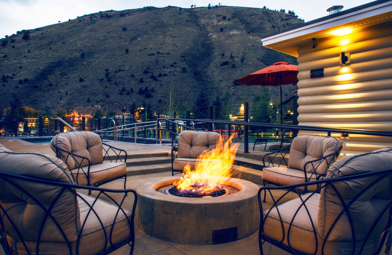 Patio at Jackson Hole Lodge.