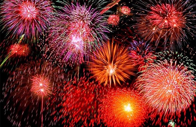 Fireworks at The Margate on Winnipesaukee.