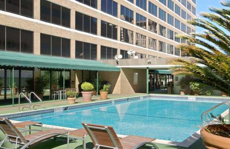 Outdoor Pool at the Hilton Houston/Medical Center