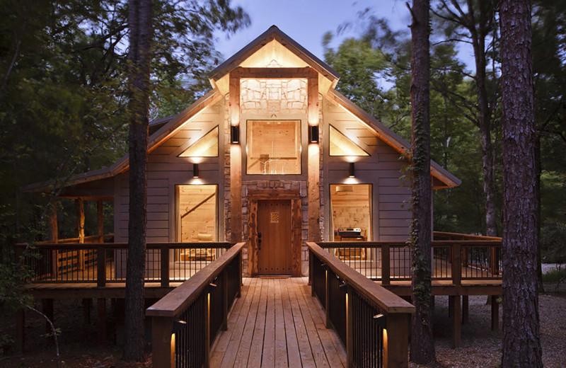 Rental exterior at Hidden Hills Cabin Rentals.