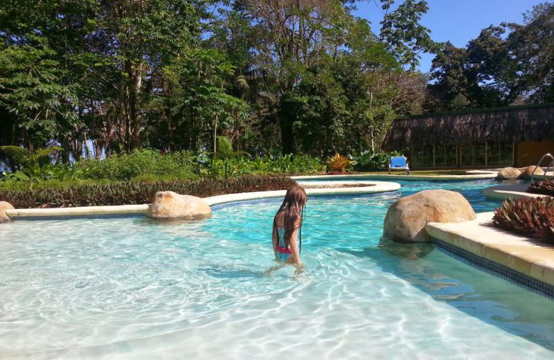 Outdoor pool at Villas del Caribe.