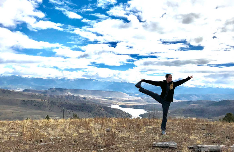 Yoga at C Lazy U Ranch.